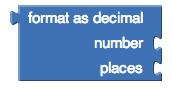 """""""format as decimal"""" block"""