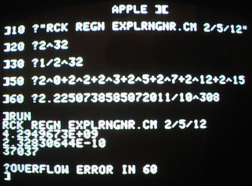 Some BASIC Commands I Tried On My Keyboard-Challenged But Otherwise Still Working Apple II