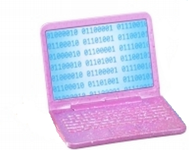 Binary Code on Barbie's Laptop
