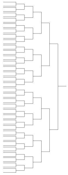 Bracketless Representation of the NCAA Basketball Tournament