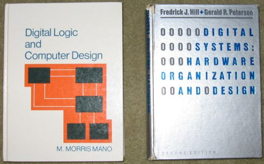 The Digital Logic Design Textbooks I Used in College.